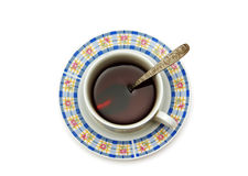 Tea cup and saucer. Royalty Free Stock Image