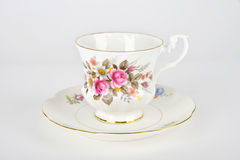Tea Cup and Saucer Stock Image