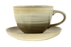 Tea cup with saucer Stock Images
