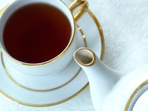 Tea Cup Saucer Pot Stock Photography