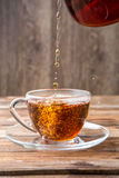 Tea in cup with saucer Royalty Free Stock Image
