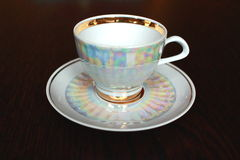 Tea cup and saucer stock image
