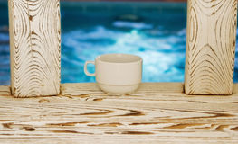 Tea cup in the sauna Royalty Free Stock Photography