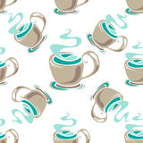 Tea cup seamless background Stock Image