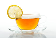Tea cup with slice of  lemon Stock Photography