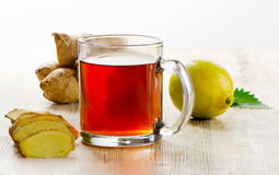 Tea cup and spices Stock Photography