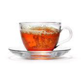 Tea cup with splash Stock Images