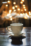 Tea cup with spoon Royalty Free Stock Images