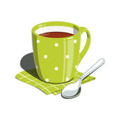 Tea cup and spoon Stock Images