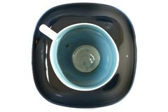 Tea cup with a spoon on the saucer Royalty Free Stock Images