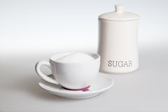 Tea cup with sugar Stock Photo