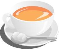 Tea, Cup, Sugar, Spoon, Hot Royalty Free Stock Photos