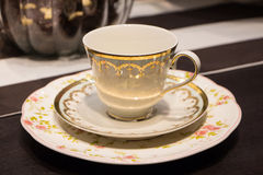 Tea Cup. On a table royalty free stock photo