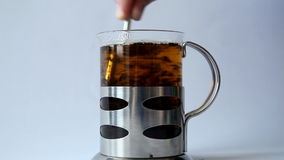 Tea. Cup of tea  in table stock footage