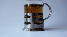 Tea. Cup of tea  in table stock video