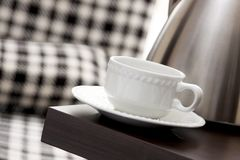 Tea cup on the table Royalty Free Stock Photos