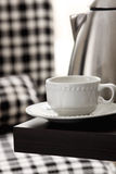 Tea cup on the table Royalty Free Stock Photo