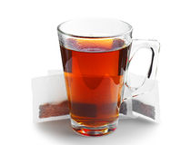 Tea cup and tea bags Royalty Free Stock Photos