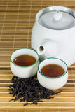 Tea in cup with tea leaf Stock Photo