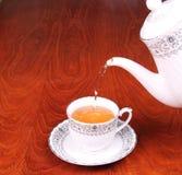 Tea cup and tea pot Royalty Free Stock Photos