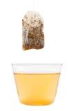 Tea cup with teabag Stock Photos