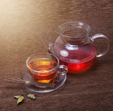 Tea cup and teapot Royalty Free Stock Image