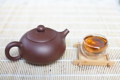 Tea cup and teapot Royalty Free Stock Photography