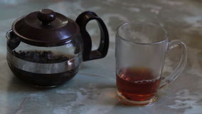 Tea cup stock footage