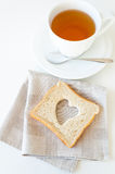 Tea cup and toast Stock Image