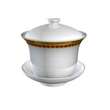 Tea cup. On white background Royalty Free Stock Image