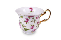 Tea cup on white background Royalty Free Stock Photos