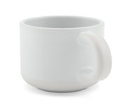 Tea cup  on white front view Royalty Free Stock Images