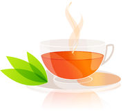 Tea Cup With Leaves Royalty Free Stock Images