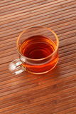 Tea Cup on wooden background Stock Images