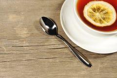 Tea Cup on the wooden table or floor, XXXL Stock Photo