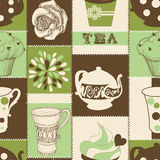 Tea and cupcakes Stock Photography