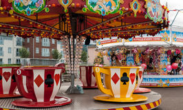 Tea cups carousel Royalty Free Stock Photo