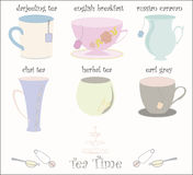 Tea Cups Collection Vector Stock Images