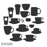 Tea cups collection Royalty Free Stock Photography