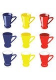 Tea cups, Colored tea cups Stock Images