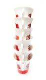 Tea cups column Stock Images