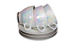 Tea cups and saucers Stock Photos