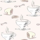 Tea cups seamless pattern Stock Image