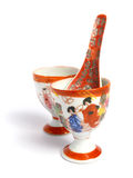 Tea cups and spoon from China Stock Photos