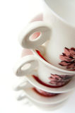 Tea cups stack Stock Images