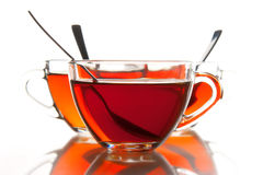 Tea cups and tea Stock Image