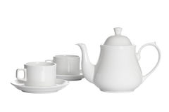 Tea cups with teapot Royalty Free Stock Photo