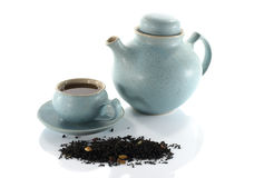 Tea with cups and teapot Royalty Free Stock Photography