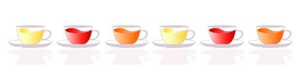 Tea cups web heading Stock Image