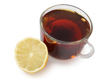 Tea and cute lemon Royalty Free Stock Photos
